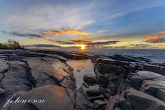 Kallon rantakalliot-0418 (fotowescu) Tags: talvi suomi winterinfinland nikon january tammikuu sea meri sunset auringonlasku