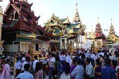 Ordination ceremony for novice Buddhist monks, Shwedagon Pagoda, Yangon (6) (Prof. Mortel) Tags: myanmar burma yangon rangoon buddhist pagoda shwedagon monks