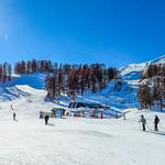 Sunny day at ski resort thumbnail