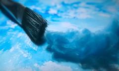 Blue Wave #monochrome #brush (7 Blue Nights) Tags: monochrome flickrfriday blue brush smileonsaturday mono rx10