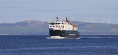 Clansman off Arran (Dave Russell (1.3 million views thanks)) Tags: brodick ardrossanbrodick clansman mv motor boat ship vessel transport passenger ferry ferries calmac caledonian macbrayne firth clyde water sea ocean seascape view scene outdoor canon eos eos7d 7d oblong panorama coast coastal mainland ardrossan ayrshire