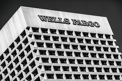 Lost Lines at a Wells Fargo Bank (Thomas Hawk) Tags: america arizona phoenix us usa unitedstates unitedstatesofamerica wellsfargo wellsfargobank architecture bank bw fav10 fav25
