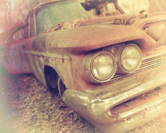 that new car smell (Mr. Greenjeans) Tags: desoto 1959 1959desoto headlights vintage antique car auto faded hss sliderssunday
