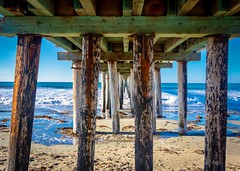 Under the Cayucos Pier No 2 (CDay DaytimeStudios w /1 Million views) Tags: beach ca california cayucos cayucousca coastline highway1 landscape morning ocean pacificcoast pacificcoasthighway pacificocean pier water