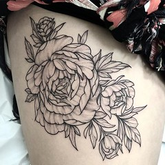 🌸🍂🌼🍂🌺🍂 Peonies. . .. ... . .. ... . #eyeofjadetattoo #eyeofjade #jeremygolden #jeremy_golden #jeremygoldentattoo #blackwork #blackworkerssubmission #darkartists #blacktattoomag #blacktatt