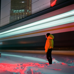 Nocturne: waiting (belousovph) Tags: portra400 mediumformat analog film portra kodak 120 zenzanon bronica light russia atmospheric sky square classic colour zenzanon80mm28 longexposure