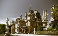 Stately...? (Through_Urizen) Tags: architecture buckinghamshire category england external hdr places waddesdonmanor canon70d canon canon1585mm architecturephotography building estate manor manorhouse home statue tint tone uk unitedkingdom greatbritain tree tower sky
