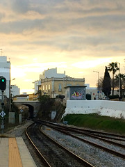Olhao Algarve (lu.glue) Tags: olhao portugal algarve station graffiti streetart urban europe love sky dawn tracks trajn