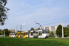 Tatra KTNF8 #352 (LukaszL99) Tags: tatra ckd tram čkd tramwaj tramvaj strasenbahn kt4d kt4 ktnf8 gera deutschland thüringen thuringia turyngia germany niemcy bloki blocks plattenbau