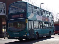 Arriva VDL DB250 (Wright Gemini) 6042 LJ04 LDD (Alex S. Transport Photography) Tags: outdoor vehicle bus road arriva arrivatheshires arrivamidlands db wright gemini vdl db250 route500 6042 lj04ldd dw63