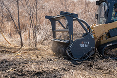 Forestry Mower (Mississippi WMO) Tags: minneapolis kasotaponds stanthonyparkcommunitycouncil wetlands stewardshipfund minigrant habitatrestoration forestry mower forestrymower buckthorn invasiveplants removal