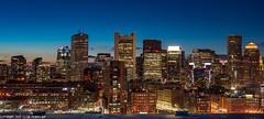 DSC_4245: Boston Skyline at sunset (Colin McIntosh) Tags: boston night skyline nikon d610 50mm f2 h manual focus sunset