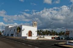 Playa Blanca, Lanzarote (wildhareuk) Tags: canaryislands canon canoneos400d church lanzarote playablanca road belltower building lanzarote2007 img2956dxo