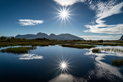 Gimsøy, Vågan, Lofoten Islands, Norway (North Face) Tags: blau norway norwegen norge water sky sun reflections clouds pure clean landscape sunrays lake sony a7 iii a7iii a7m3 lofoten islands blue nature