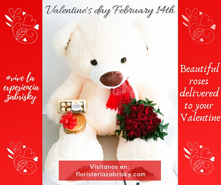Love is our true destiny. We do not find the meaning of life by ourselves alone - we find it with another. - Thomas Merton   *_February 14th: Beautiful roses delivered to your Valentine._*  Online store: https://floristeriazabrisky.com/collections/valenti
