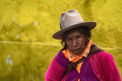 Old yellow (Feca Luca) Tags: people street woman donna old reportage portrait ritratto travel viaggiare peru huaraz southamerica nikon