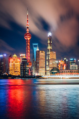 Shanghai Water Colors (Todd Danger Farr) Tags: shanghai sony sonyimages cityscapes watercoolers nightphotography skyline skyscrapers movingclouds clouds reflections long exposure a7rii longexposure thebund travel explore