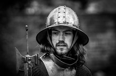 Man at Arms_ (Andy..D) Tags: commandery d500 worcester worcestercommandery armour sword menatarms manatarms knight poleaxe battle axe portrait medieval chainmail reenactment helmet helm shield
