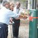IITA DDG Corporate Services, Hilde Koper cutting the tape