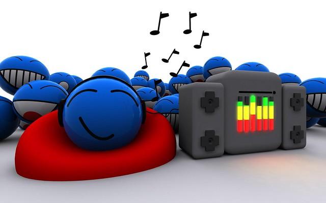 Обои меломаны, музыка, звук, синий, яркий, красочный картинки на рабочий стол, фото скачать бесплатно