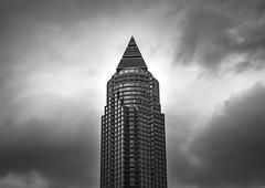 Pyramid of the modern age (Iso_Star) Tags: sony ilce7m3 tamron messeturmfrankfurt frankfurt tower hochhaus architektur 2875mmf28 monochrome skyscraper building sky clouds wolken bw schwarzweiss messeturm