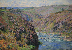 Valley of the Creuse, Sunlight Effect by C Monet 1889 080c2 (Andras Fulop) Tags: albertina museum exhibition gallery vienna wien painting art monet nokon landscape water