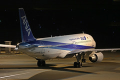 JA8400, Airbus A320, All Nippon Airways, Tokyo Haneda (ColinParker777) Tags: airbus a320 320 aircraft airliner aeroplane plane travel aviation taxy taxi taxiway ana nh all nippon airlines airways air rjtt hnd tokyo haneda japan airport international canon 7d2 7dmk2 7dmkii 7dii 200400 l lens zoom telephoto pro ja8400 554 a320211 night dark exposure parking