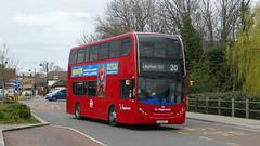 Returning To Original Base (londonbusexplorer) Tags: ct plus hackney community transport adl enviro 400 10113 lx12dcz 20 walthamstow central debden tfl london buses