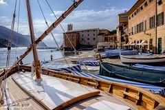 Sestri Levante (Gian Floridia) Tags: sestrilevante albero baiadelsilenzio barca barche funi gozzo manovre spiaggia