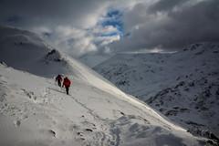 Merry Christmas viewers! (cliveg004) Tags: merrychristmas snow mountains garbhbheinn highlands scotland kinlochleven mounitaineer sky clouds tracks rocks nikon d5200