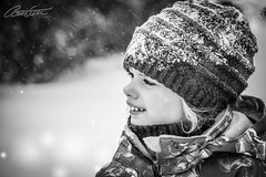 Let it snow, let it snow... (corineouellet) Tags: monochrome canada canon canonphoto winter snowy snow closeup family love beautiful beauty noiretblanc blackandwhite bnw portraits portrait daughter
