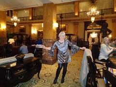 The Girl Can't Help It! (Laurette Victoria) Tags: dress leggings boots blonde woman laurette hotel lobby milwaukee pfisterhotel