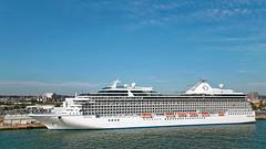 MS Marina @ Southampton (tonyplowman) Tags: southampton oceaniaclass cruise ship msmarina