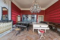 Mauro Amoroso © (Mauro_Amoroso) Tags: urbex abandoned decay pianos piano mauroamorosoadventures dusty dustysecrets room chateau nikon nital nikonitalia urbexfrance
