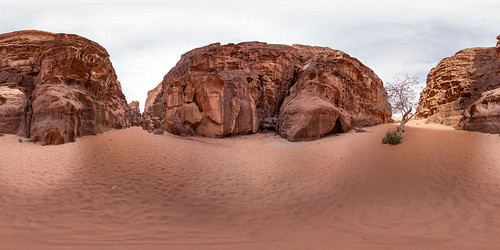 A canyon at Wadi Rum desert