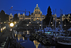 Victoria Inner Harbour @ Blue Hour (Infinity & Beyond Photography: Kev Cook) Tags: victoria inner harbour bluehour parliament buildings city lights cityscape boats britishcolumbia canada