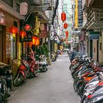 Motorbike Parking in an Alley in Saigon's Japanese Town, Vietnam thumbnail
