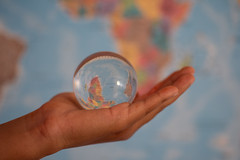 World hold on (Rushay) Tags: reflection backgrounds holding map crystalball hand africa portelizabeth southafrica