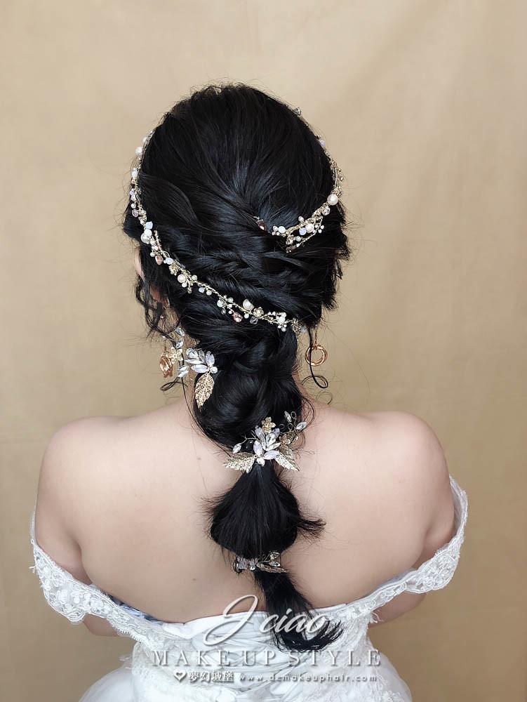 【新秘婕喬】新娘造型創作 / 優雅編織造型