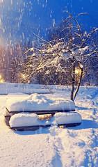 Neige dans les Alpes (Manon Ridet) Tags: neige nuit montagne mountain hautesavoie alpes leshouches savoie rhônealpes france chamonix montblanc hiver