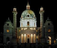 Wien - Karlskirche (madbesl) Tags: stcharleschurch karlskirche wien vienna österreich austria europa europe kirche church karlsplatz barock nacht night architektur architecture olympus omd em10 m10 omdem10 lumix20mmf17 cathedral