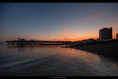 ---------------[] (Kevin HARWIN) Tags: pier building sun sunrise water sea wet beach sand rocks kent uk england south east herne bay canon m3 eos sigma