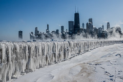Chicago Polar Vortex 2019 (Joshua Mellin) Tags: chiberia winter cold chicago chicagoland lakemichigan polarvortex vortex polar arctic 2019 live freezing frozen icicles lake steam steaming skyline city cityscape building buildings record low lows below 22 sharp snow snowy snowing joshuamellin joshua mellin josh joshmellin twitter instagram socialmedia verfiied journalist photographerr photog writer blogger influencer chicagoriver