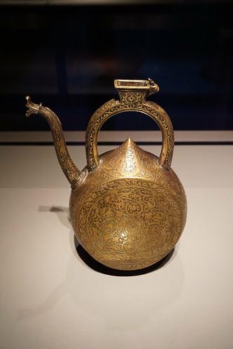 Brass Iranian Ewer at The Museum of Islamic Art - Doha, Qatar