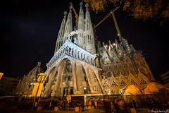 Barcelone-177 (bonacherajf) Tags: barcelona barcelone catalogne catalunya espagne espania spagna sagradafamilia cathédrale bynight nocturne poselongue longexposure