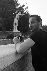 Occhio (ioriogiovanni10) Tags: rome d810 nikon guarda click rubata seguimi jovyx74 bew foto photographer fotografo roma pontemilvio monocromatico biancoenero eye face men homme io je blackandwhite