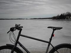 2019 Bike 180: Day 40, February 27 (olmofin) Tags: 2019bike180 finland bicycle kuusisaari munkkiniemi sea meri ice jää polkupyörä kona