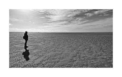 Isolation (CJS*64) Tags: panasonic panasoniclx100 lx100 isolation lonely loneliness one 1 solo lytham blackwhite bw blackandwhite mono monochrome whiteblack whiteandblack lancashire beach cjs64 craigsunter