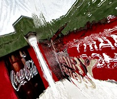 Coke adds life (CatnessGrace) Tags: cocacola coke walls urban red green white architecture buildings handheldart mobileart