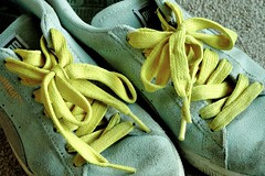 Colouring my world Yellow (kerwitcherwoo) Tags: cmwdyellow stilllife yellow trainers clothes household